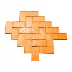 Mal imitatie baksteen in visgraatmotief
