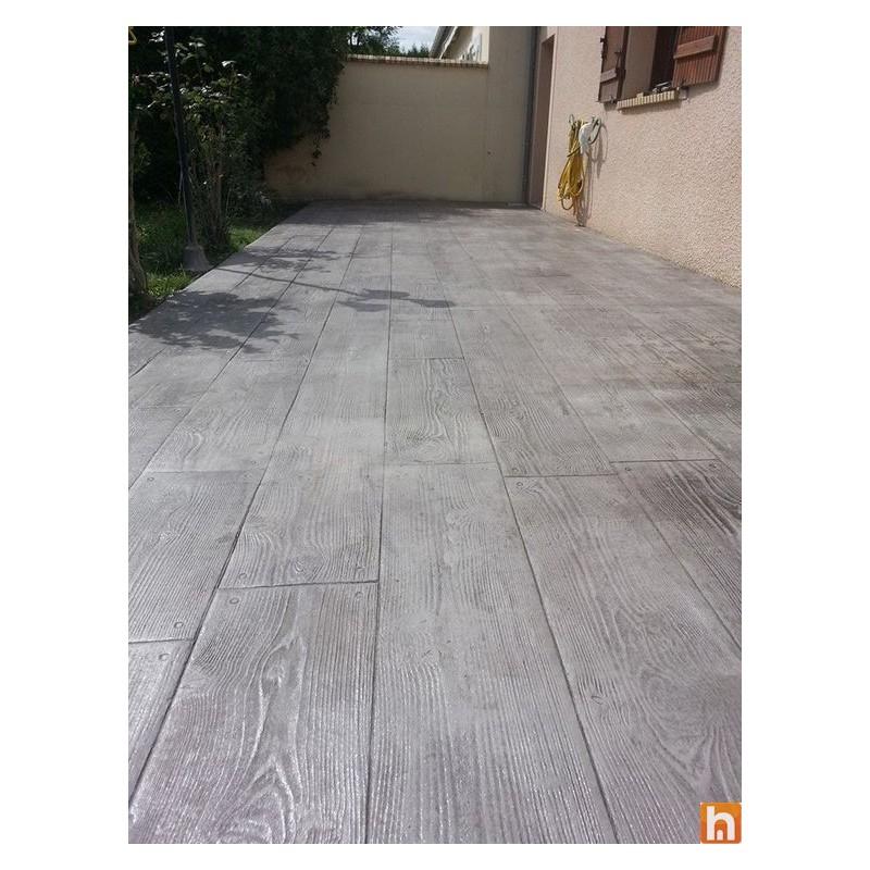 Concrete imprint mould imitation wood grain harmony b ton - Garage beton imitation bois ...