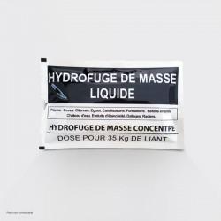 Water-repellent liquid mass dose
