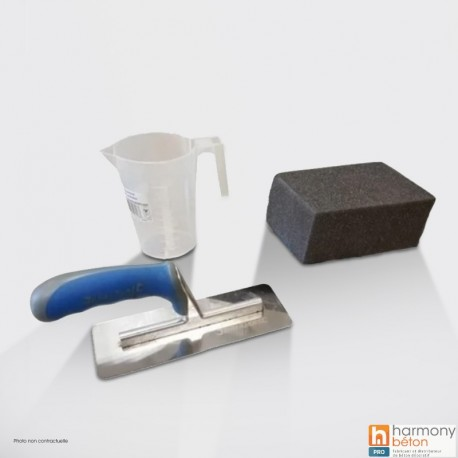 Waxed concrete toolkit