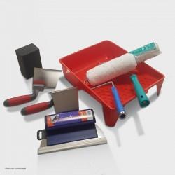 Kit outils béton ciré avec lisseuses angle