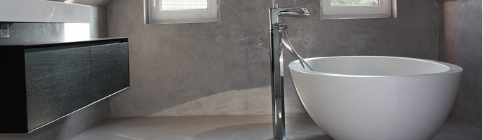 B ton d coratif dans votre salle de bains harmony b ton - Beton mineral salle de bain ...