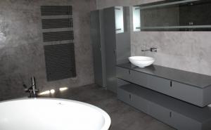 salle de bain en beton cir. salle de bains bton surmesure jouer ... - Beton Cire Sur Mur Salle De Bain