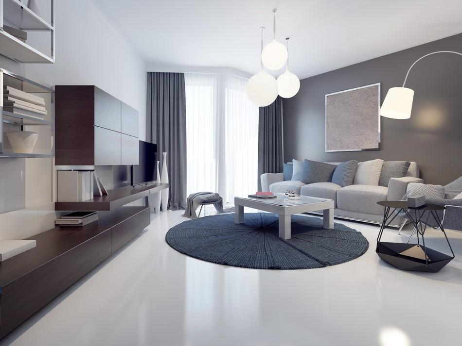 Photo d'une pièce avec du béton ciré