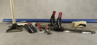 Les outils nécessaires à la pose du béton empreinte