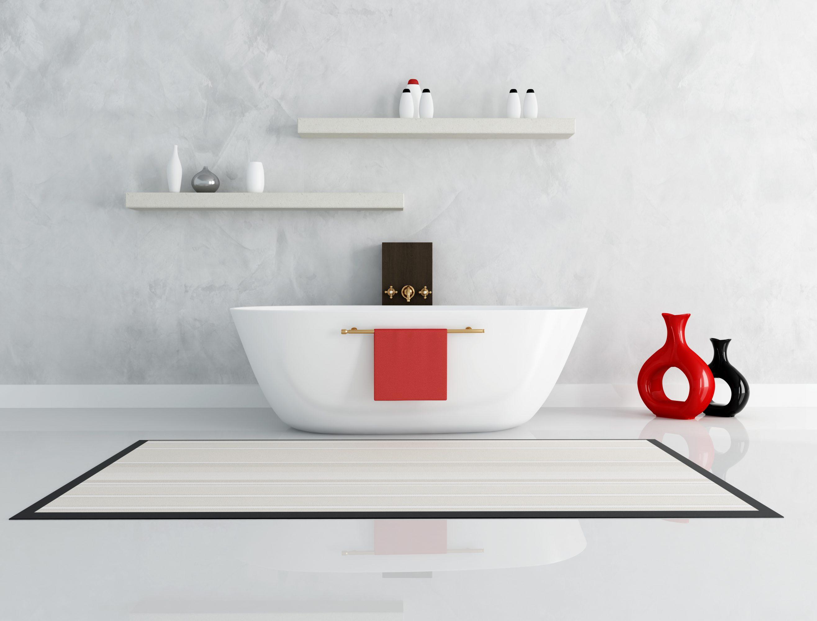 Le b ton cir dans la salle de bains blog harmony b ton for Application du beton cire