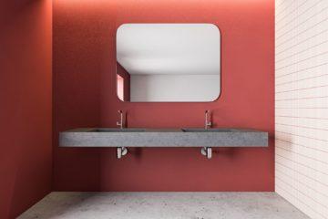 salle de bain ocre