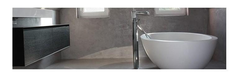 Beton cir salle de bain kits tout compris harmony b ton for Kit beton cire salle de bain