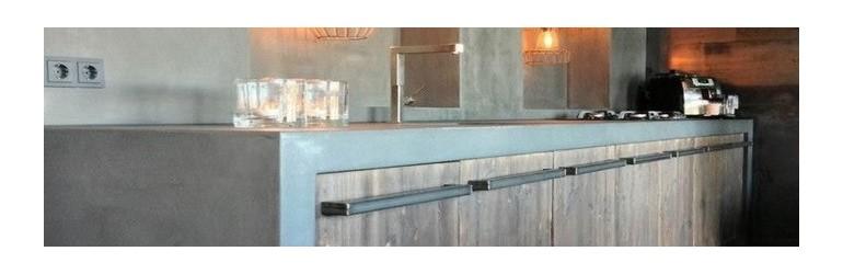 Waxed Concrete Kitchen Kits