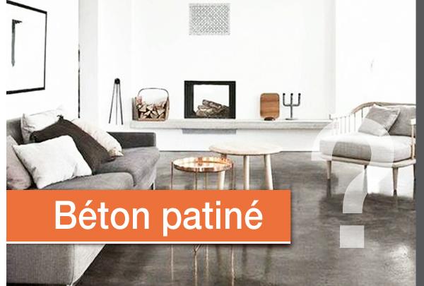 Béton patiné