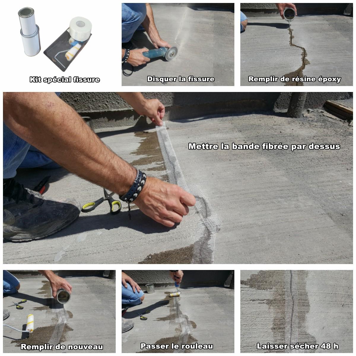 Comment réparer une fissure dans un béton